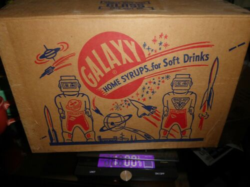 VINTAGE GALAXY SYRUP SOFT DRINK BOX EMPTY HOLDS 12 BOTTLES