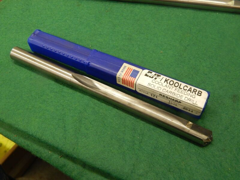 """CJT KOOLCARB .4844"""" Carbide Tipped Coolant Feed Drill"""