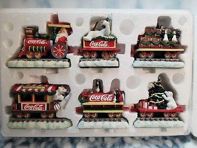 Coca Cola Train 6 Wagon Set Vintage Rare Old Bear Penguin Holiday Christmas