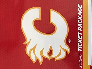 Flames  4 Centre ice season tickets