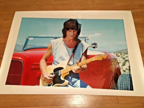 """JEFF BECK ORIGINAL ROBERT KNIGHT COLOR PHOTO 1985 HIGH GLOSS  43"""" X 30"""""""