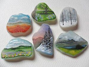 Little-landscapes-original-miniature-art-on-sea-glass-beach-pottery-rock-art