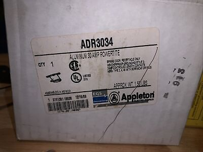 Brand New Appleton Adr 3034 Open Box Missing Cover And Screws