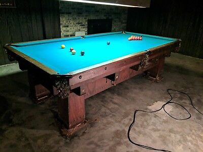 Antique 1900's Snooker pool table CHESTERMAN CO MUST BE SOLDJULY 26 4.5x9 -$450 for sale  Des Moines