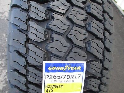 4 New 265/70R17 Goodyear Wrangler AT/S Tires 265 70 17 R17 2657017  A/T 70R for sale  Sparta