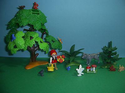 Playmobil Märchen: Rotkäppchen und der böse Wolf Set 4562 mit Wald, Natur  (B)