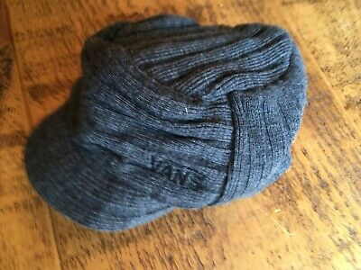 Vans, Mens Flat Peak Beanie Hat, Grey, Great Condition.