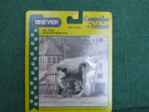 Breyer #1550 Companion Animals Grey Tuxedo Cat NRFC - Cute - Free Shipping!