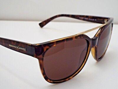 Authentic Armani Exchange AX 4043S 8037/73 Tortoise Brown Solid Lens Sunglasses