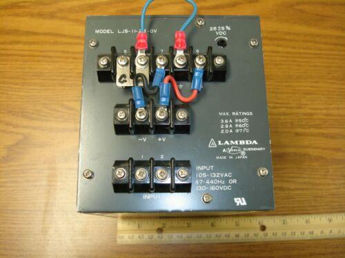 28 V DC Power Supply 3.6A Lambda LJS-11-28-OV