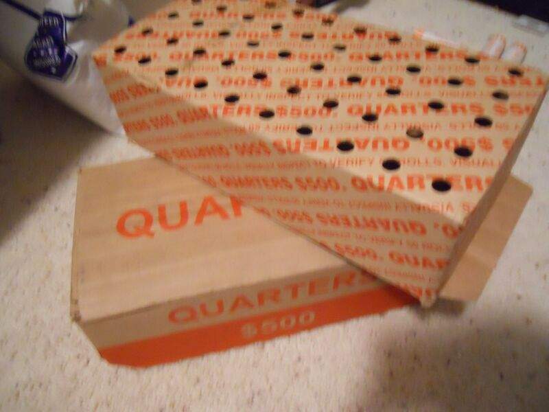 1 Box ($500) US Washington Quarter Rolls, 2,000 Coins Unsearched. 20 LBS. Many D