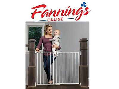 Regalo 2-in-1 Extra Wide Stairway and Hallway Walk Through Baby Safety Gate 1250