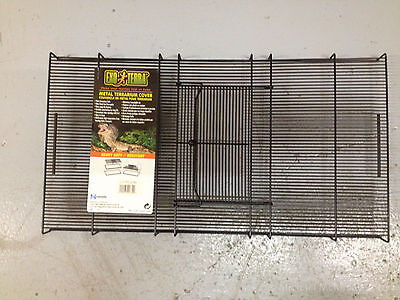 EXO TERRA Pet Reptile Tank Topper w/ Steel Cage Door 50 X 25cm 10 15 20 Gallon
