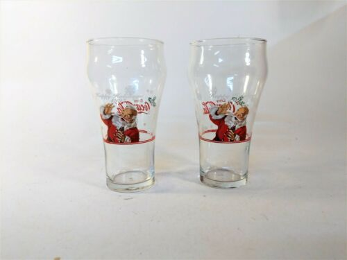 Coca-Cola Santa Holiday Glasses 1997