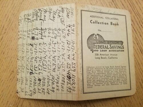 1942 Long Beach Federal Savings Loan Payment Book California CA Collection LBC