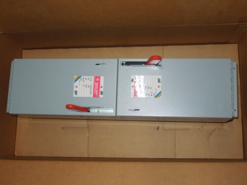 Ge Spectra Ads26100hd 100a 600v 1ph 2p Twin Fusible Switch Unit New Surplus