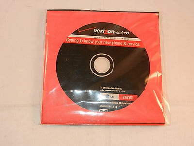 """VERIZON WIRELESS QUICK REFERENCE GUIDE LG VX6100 - BOOKLET & CD """"NEW"""""""