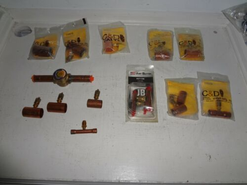 lot of 16 C&D & Just Better copper access tees w/ Emerson Liquid Moisture sight