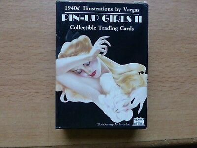 TC PIN UP GIRLS II by VARGAS Premium Trading Card Set (50) 1940's Illustrations