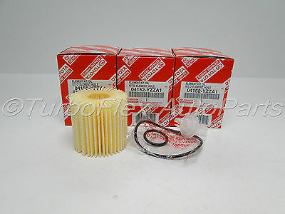 Toyota Genuine OEM Oil Filter 04152-YZZA1 Set of Three