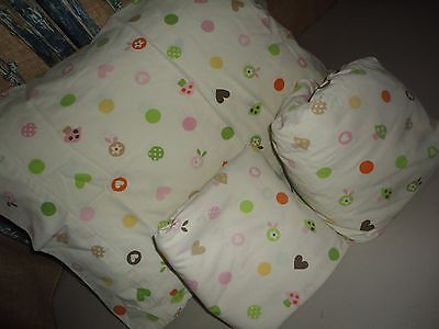 Used, CIRCO LOVE N' NATURE BROWN PINK DOTS MUSHROOMS TREES (3PC) TODDLER'S SHEET SET  for sale  Peoria