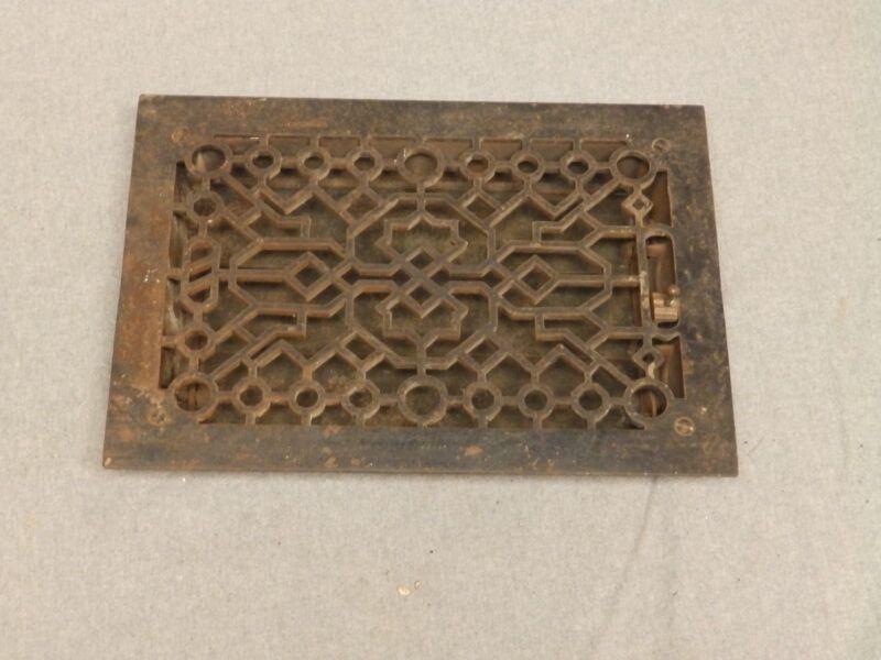 Antique Cast Iron Heat Grate Register Vent Old Vintage Hardware 631-16
