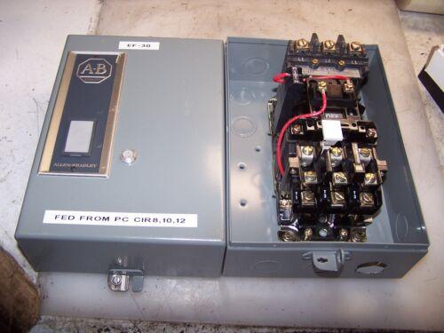 ALLEN BRADLEY SIZE 0 ENCLOSED MOTOR STARTER 509-AOD COIL 115-120 VAC 5 HP MAX