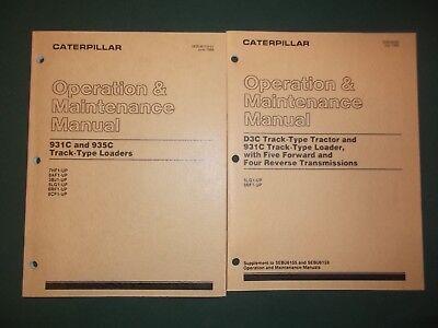 Cat Caterpillar 931c 935c Track Loader Operation Maintenance Book Manual