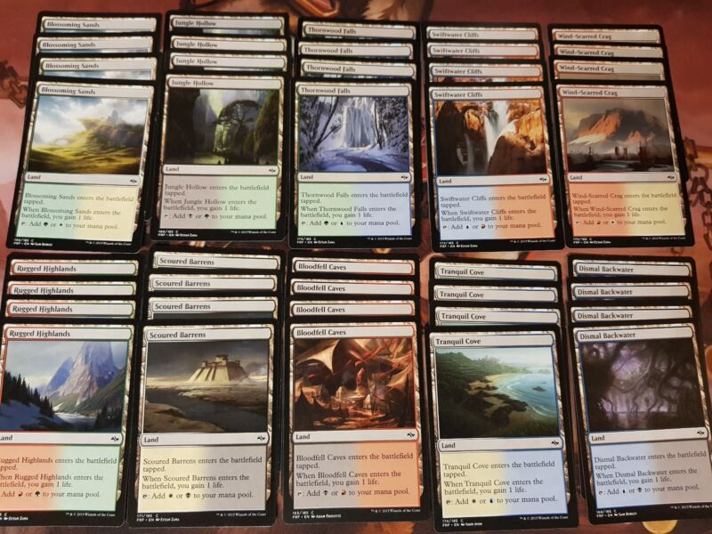 Lot Of Fate Reforged 40x Dual Lands Collection Complete Playset Of Each Nm/lp