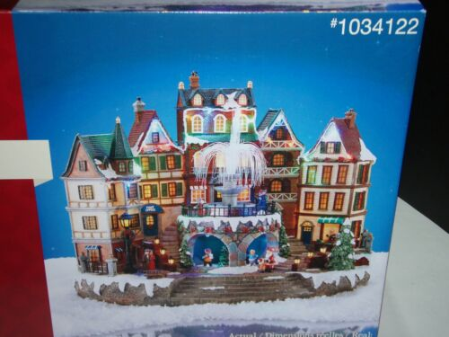 "HOLIDAY LIVING ""  ANIMATED VILLAGE SCENE "" WITH LEDLIGHTS & MUSIC # 1034122 BN"