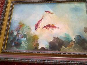 1954 painting of coral fish Reedy Creek Gold Coast South Preview