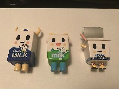 Tokidoki Moofia HERBIE BILLY ZEUS Figure Lot Organic Milk Goat Greek Yogurt ()