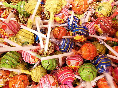 Chupa Chups Wrapped Lollipops 1 pound (453g) abt 36 ct Retro 50's party -