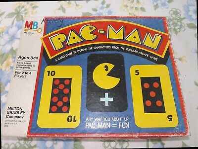 Pac-Man Card Game Vintage 1982 Board Game by Milton Bradley - Complete