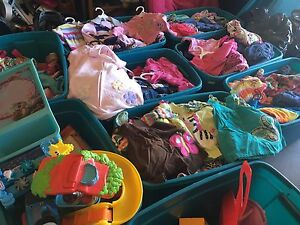 BINS OF GIRLS CLOTHING (infant, 12-18mth, toddler 2T, 3T, 4T)