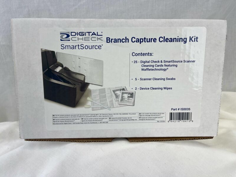 NEW Digital Check Branch Capture Cleaning Kit