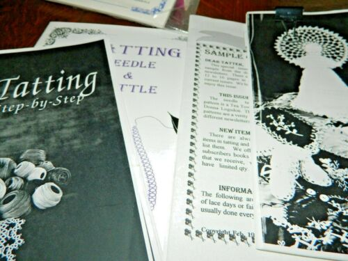 NeedleTatting Instruction 4 Booklets 2 HELPING HANDS NEWSLETTERS, VHS TAPE, YARN