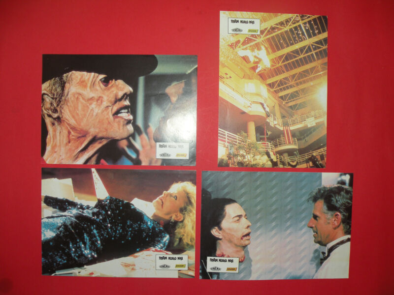 PHANTOM OF THE MALL 1989 DEREK RYDALL HORROR UNIQUE EXYU LOBBY CARDS