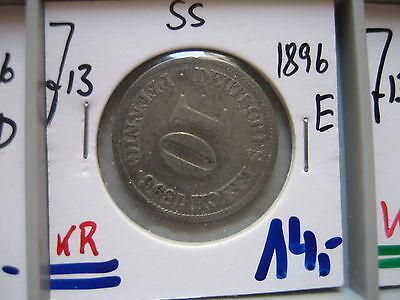 J 13   10 Pfennig  1896 E in SS