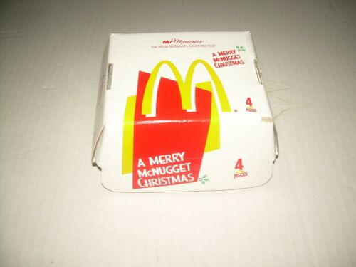 Mcdonald's McMemories 1996 A Merry McNugget Christmas Ornaments