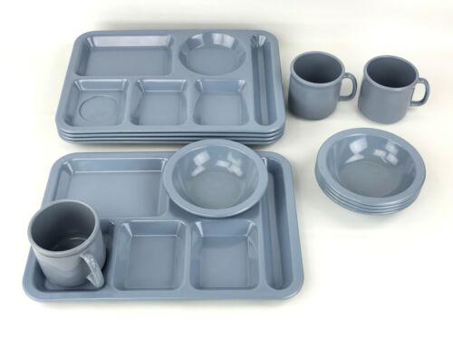 Vintage Texas Ware Melamine Compartment Trays, Bowls & Mugs Bundle Lot