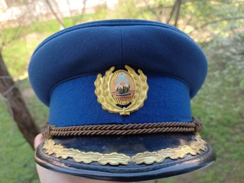 Securitate Ceremony Vizor Hat KGB STASI  cold war Romanian army Warsaw Pact RSR