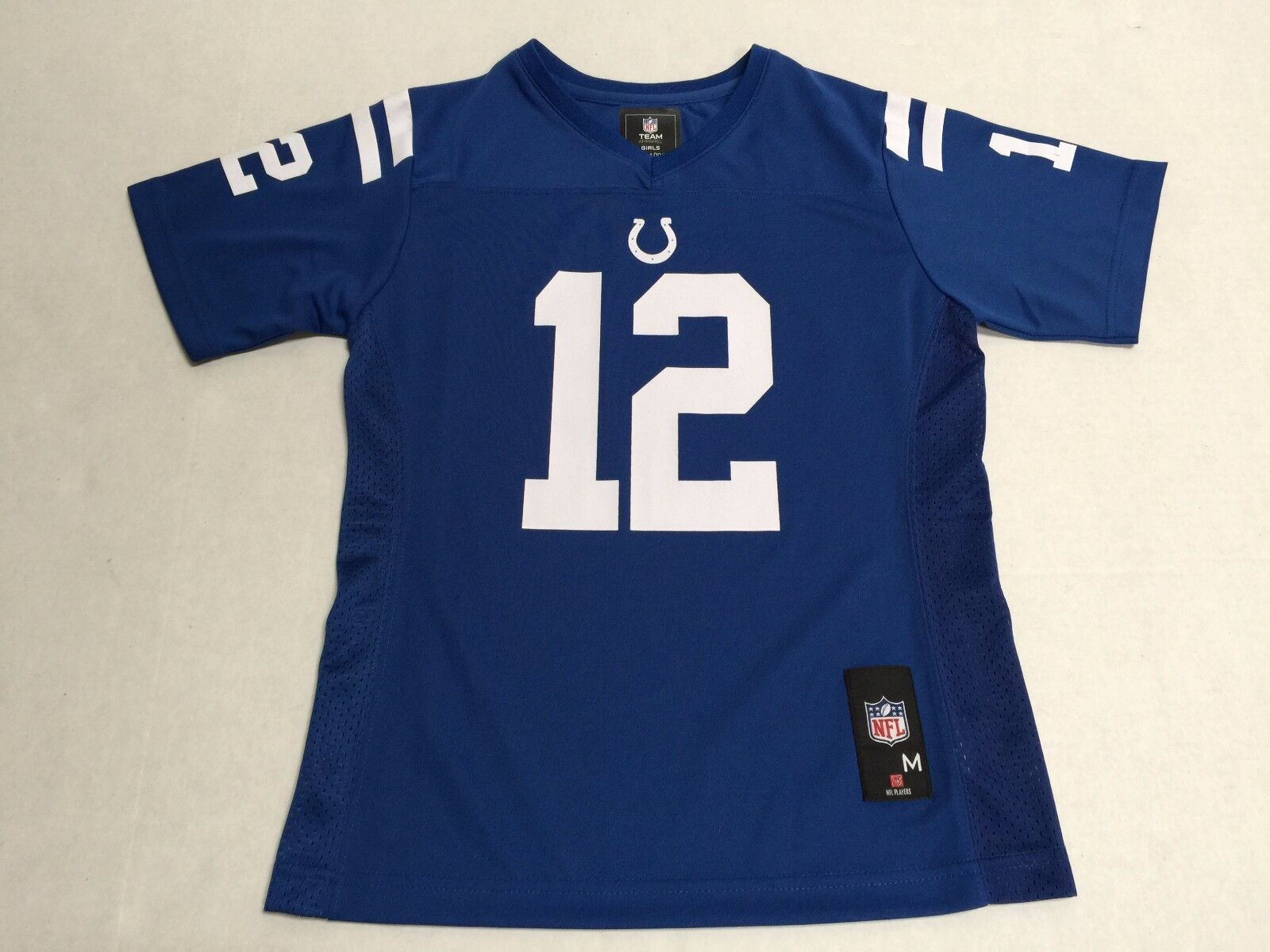 cfb4daad4 Indianapolis Colts Official NFL Apparel Kids Youth Size Andrew Luck Jersey  New