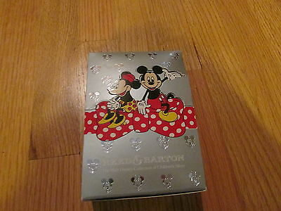 Reed Barton Baby comb brush set silver plate Disney mickey mouse gift set in box