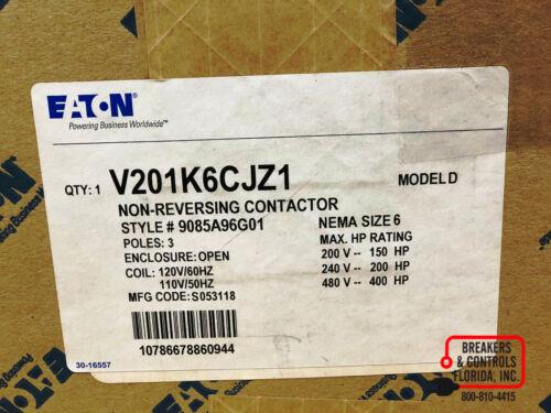 NEW EATON V201K6CJZ1 NON-REVERSING CONTACTOR  NEW IN BOX