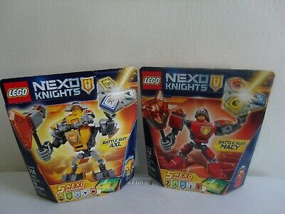 Lot Of 2-LEGO Nexo Knights- Battle Suit MACY #70363 and AXL#70365-New Sealed