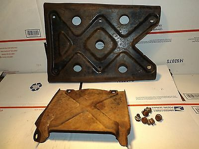2 Engine Motor & Front Frame Skid Plate Guard Plates Guards 1986 1987 trx250