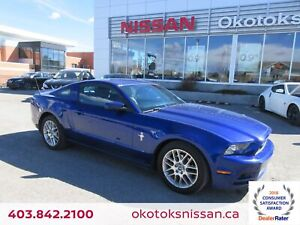 2013 Ford Mustang V6 Premium V6, HEATED LEATHER, LOW MILEAGE