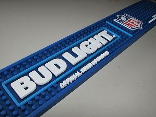 NEW Bud Light NFL Football Beer Bar Mat Pint Glass Kegerator Spill By Budweiser