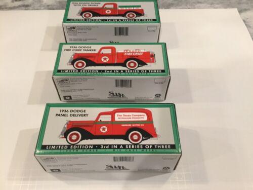 TEXACO 1936 DODGE PICK UP, TANKER, & PANEL TRUCKS 1/25 SPEC CAST NIB
